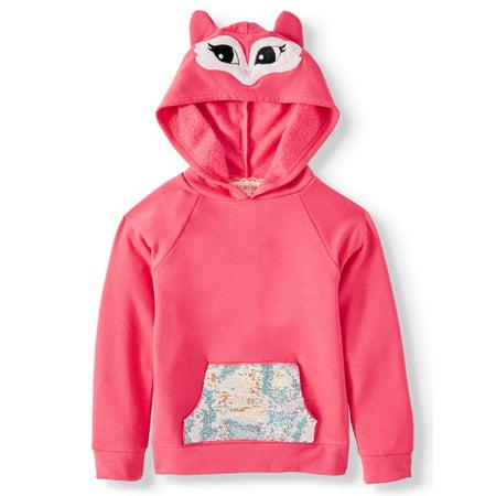 Btween Critter Costume Hoodie With Flip Sequin Pocket (Little Girls)