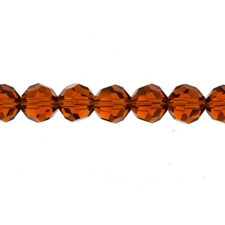 Mocca Round Crystal Beads 10mm, 32-Facet Surface Cutted, 44 Beads / string of 16 - Mocca Crystal