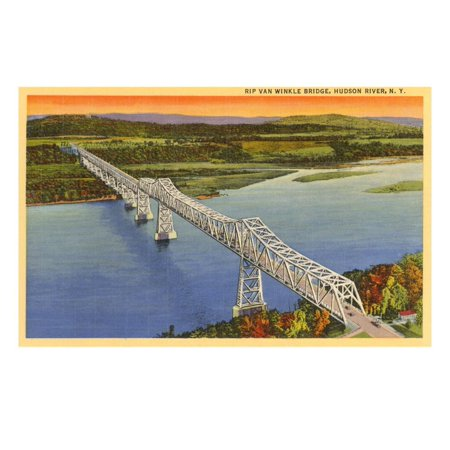 Rip Van Winkle Bridge, Hudson River, New York Print Wall Art (Vpn Bridge)