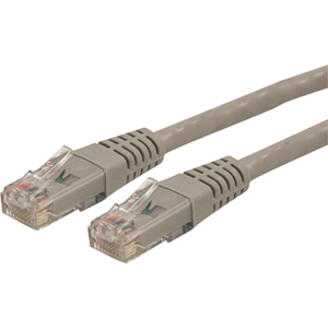StarTech 2ft Gray Molded Cat6 UTP Ethernet Network Patch Cable, ETL Verified