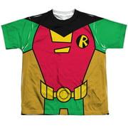 Teen Titans Go - Robin Uniform (Front/Back Print) - Youth Short Sleeve Shirt - Small
