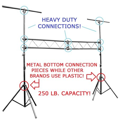 DJ Band Portable Light Truss Fixture Tripod T Bar Lighting Stands 10Ft Trussing