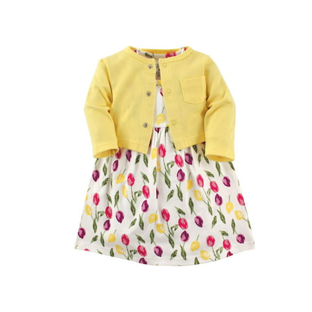 Dress & Cardigan, 2pc Outfit Set (Baby Girls)