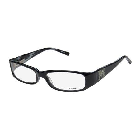New Missoni 03901 Womens/Ladies Designer Full-Rim Black Affordable Signature Shiny Logo Frame Demo Lenses 54-16-130 Spring Hinges Eyeglasses/Eye Glasses ()