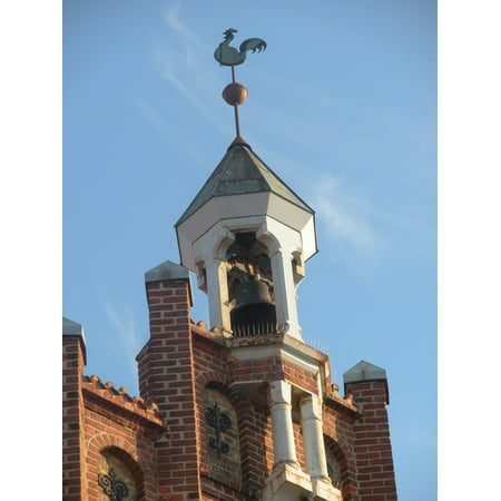 Column Tower (LAMINATED POSTER Architecture Bell Tower Columns Weather Vane Poster Print 24 x 36 )