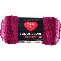 Red Heart Super Saver Ombre Yarn, 10 oz, Anemone