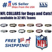 Pets First NFL Miami Dolphins Dog Collar - Heavy-Duty, Durable & Adjustable Football Collar for Dogs/ CATS - Large