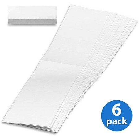 Vinyl Tabs Inserts ((6 Pack) Smead, SMD68620, White Replacement Tab Inserts, 100 / Pack)