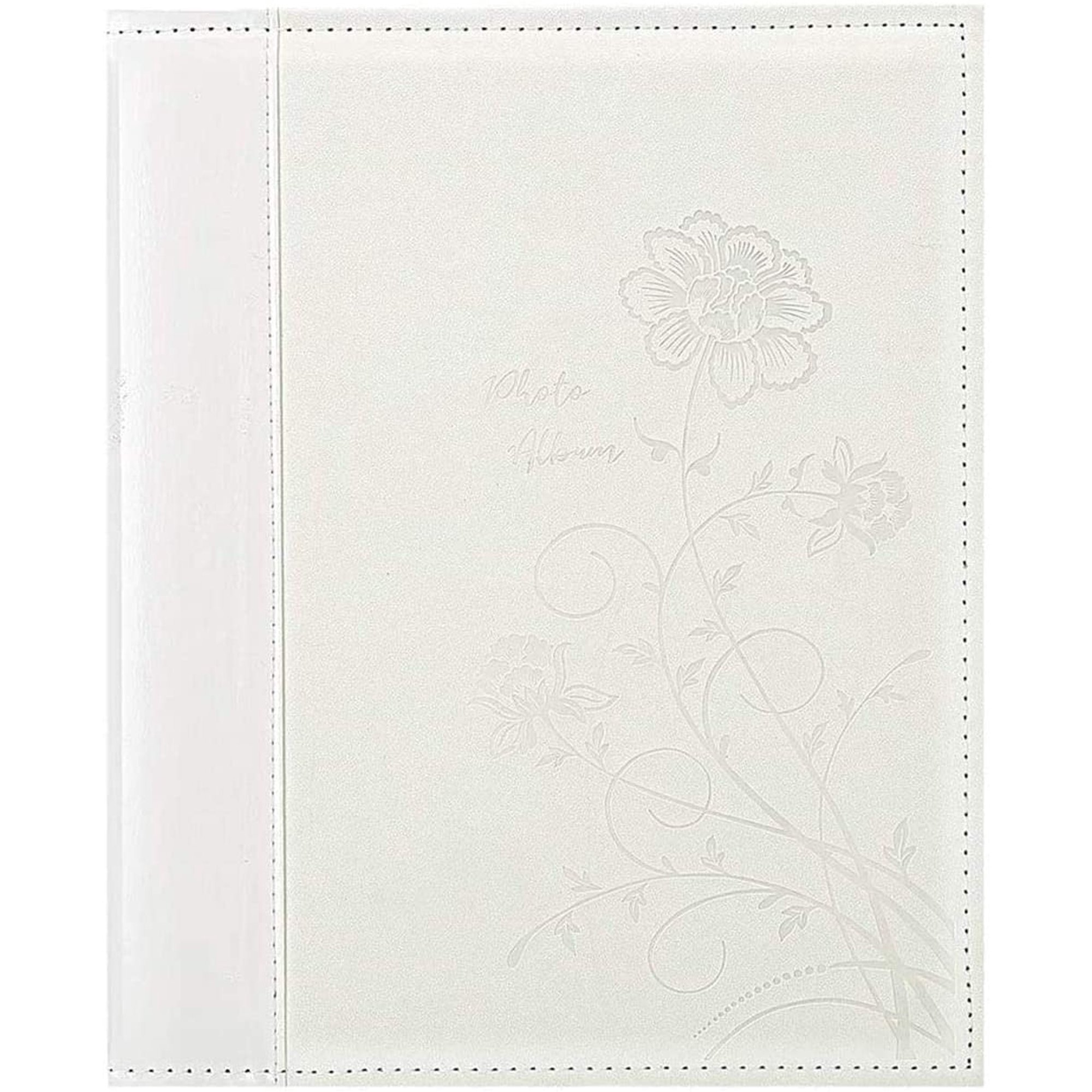 Photo Album 4x6 600 Photos Large Capacity Wedding Family Leather Cover Picture Albums Holds 600 Horizontal And Vertical 4x6 Photos White Walmart Canada