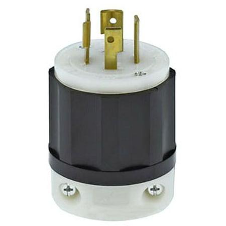 Nema L21 20 (Leviton 2421 20 Amp, 250 Volt 3-phase, NEMA L15-20P, 3P, 4W, Locking Plug, Industrial Grade, Grounding -)