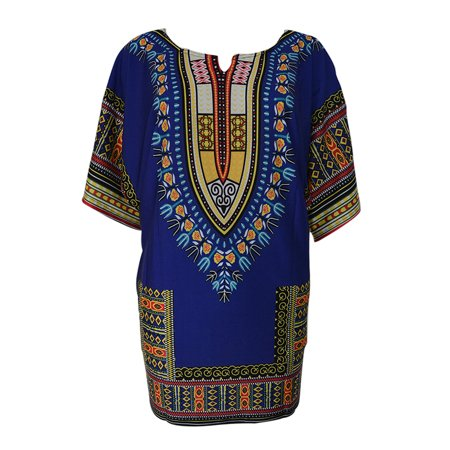 Women African Festival Dashiki Shirt Kaftan Boho Hippe Gypsy Festival Tops Party Dress New (Hippe Sonnenbrille)