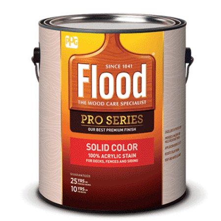 Flood FLD825-01 Pro Series Solid Color Stain, Navajo Red, 1 Gallon Flood Solid Color Stain