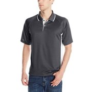 Charles River Apparel 3810 Men's Color Blocked Wicking Polo,Black/White,XXXXX-Large