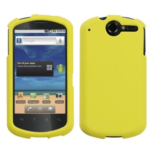 Insten Yellow Phone Case (Rubberized) for HUAWEI: U8800 (Impulse 4G)