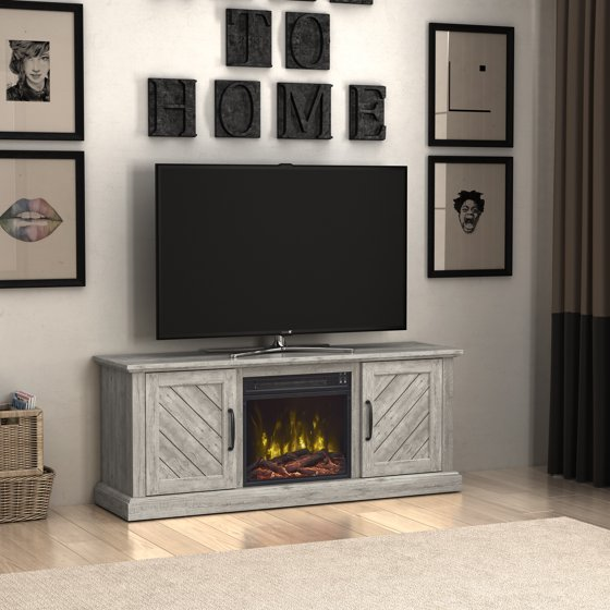"Free Shipping. Buy Paoli Valley Pine TV Stand for TVs up to 60"" with Electric Fireplace at Walmart.com"