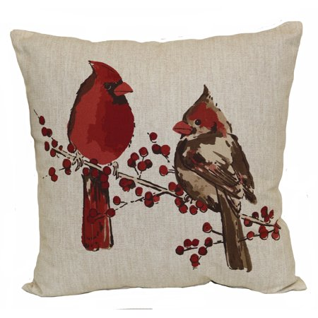 Mainstays Outdoor Pillow Cardinals Walmart Com