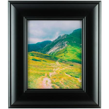 Craig Frames Dakota Wide Modern Black Satin Picture Frame 12x36 Inch