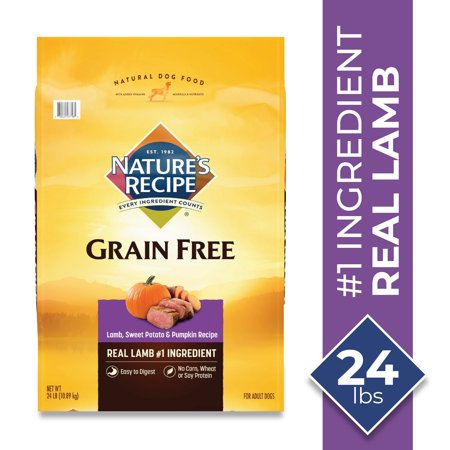 Nature's Recipe Grain Free Easy to Digest Lamb, Sweet Potato, & Pumpkin Recipe Dry Dog Food, 24-Pound Bag