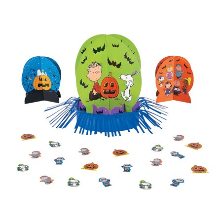 IN-13746261 Peanuts Halloween Table Decorating Kit By Fun - Halloween Table Decorating Contest