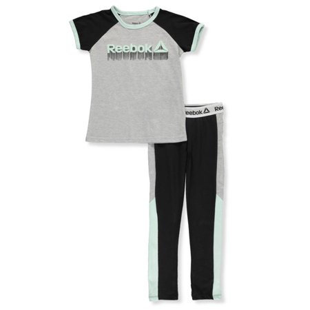 Reebok Girls' 2-Piece Leggings Set Outfit
