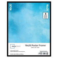Mainstays 16x20 Basic Poster and Picture Frame, Black