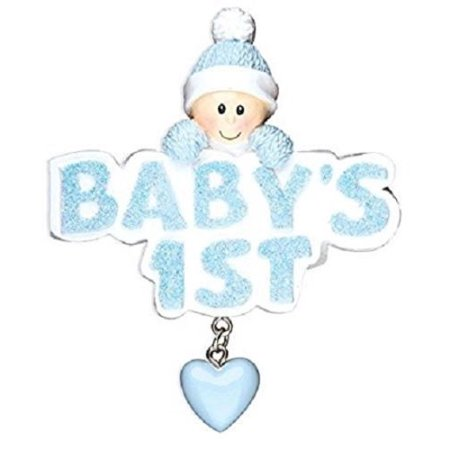 Baby's 1st  Personalized Christmas Tree Ornament X-mass Baby Boy First Blue Babys First Christmas Tree Ornament
