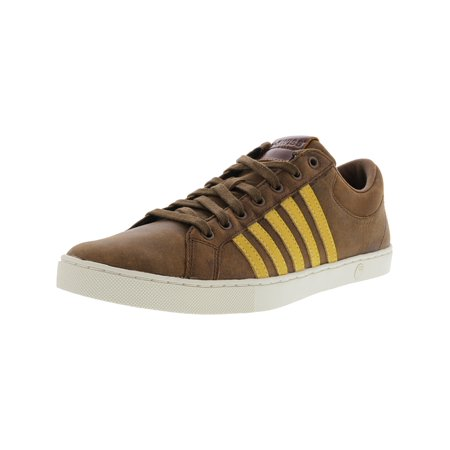 K-Swiss Men's Adcourt 72 So P Bison / Cloud Dancer Fall Leaf Ankle-High Leather Fashion Sneaker - 10M (Wholesale Exotic Dancer Shoes)