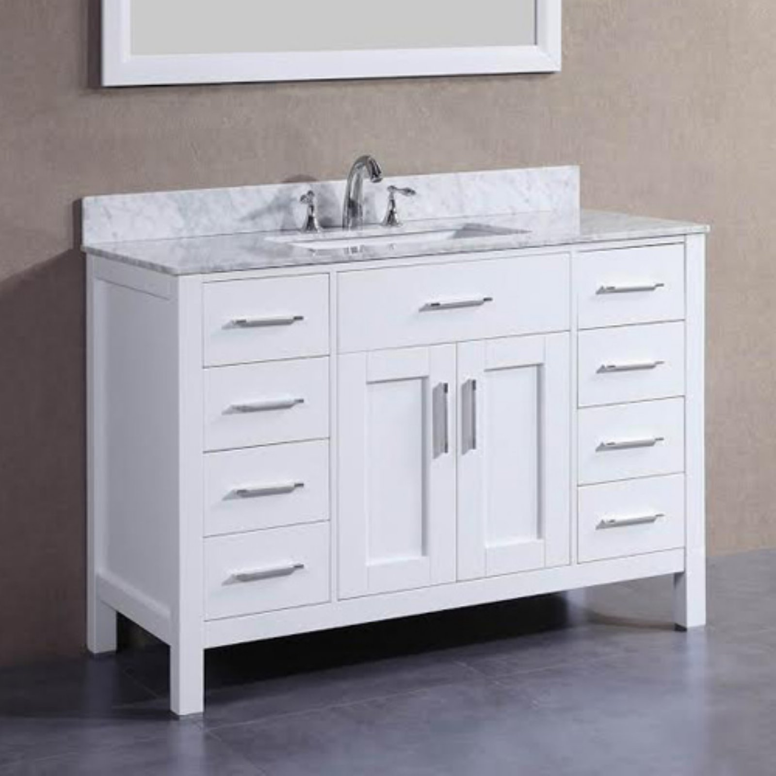 Belvedere 48 in. Freestanding Single Bathroom Vanity with Marble Top by Belvedere Bath LLC