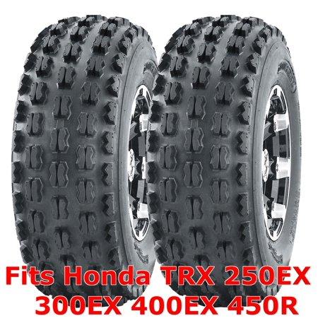 2 ATV Tires 22x7-10 22x7x10 Honda TRX 250EX 300EX 400EX 450R front GNCC Racing (Honda Prelude Tires)