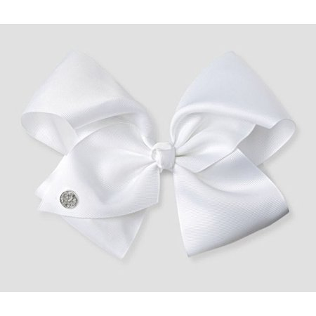 Large Cheer Hair Bow (White) - Halloween Cheer Bows
