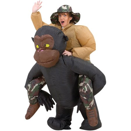 Inflatable Riding Gorilla Adult Halloween Costume](Funny Gorilla Costume)