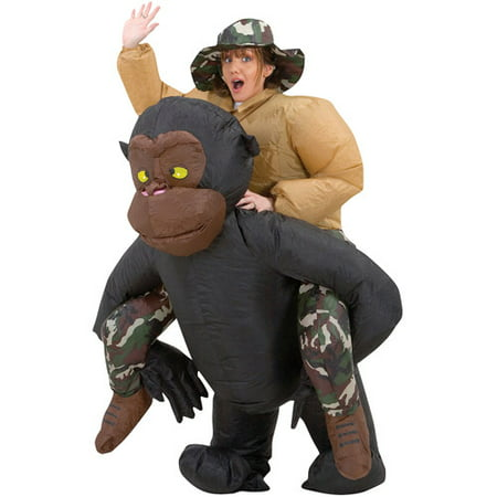 Inflatable Riding Gorilla Adult Halloween Costume (Riding An Animal Halloween Costume)