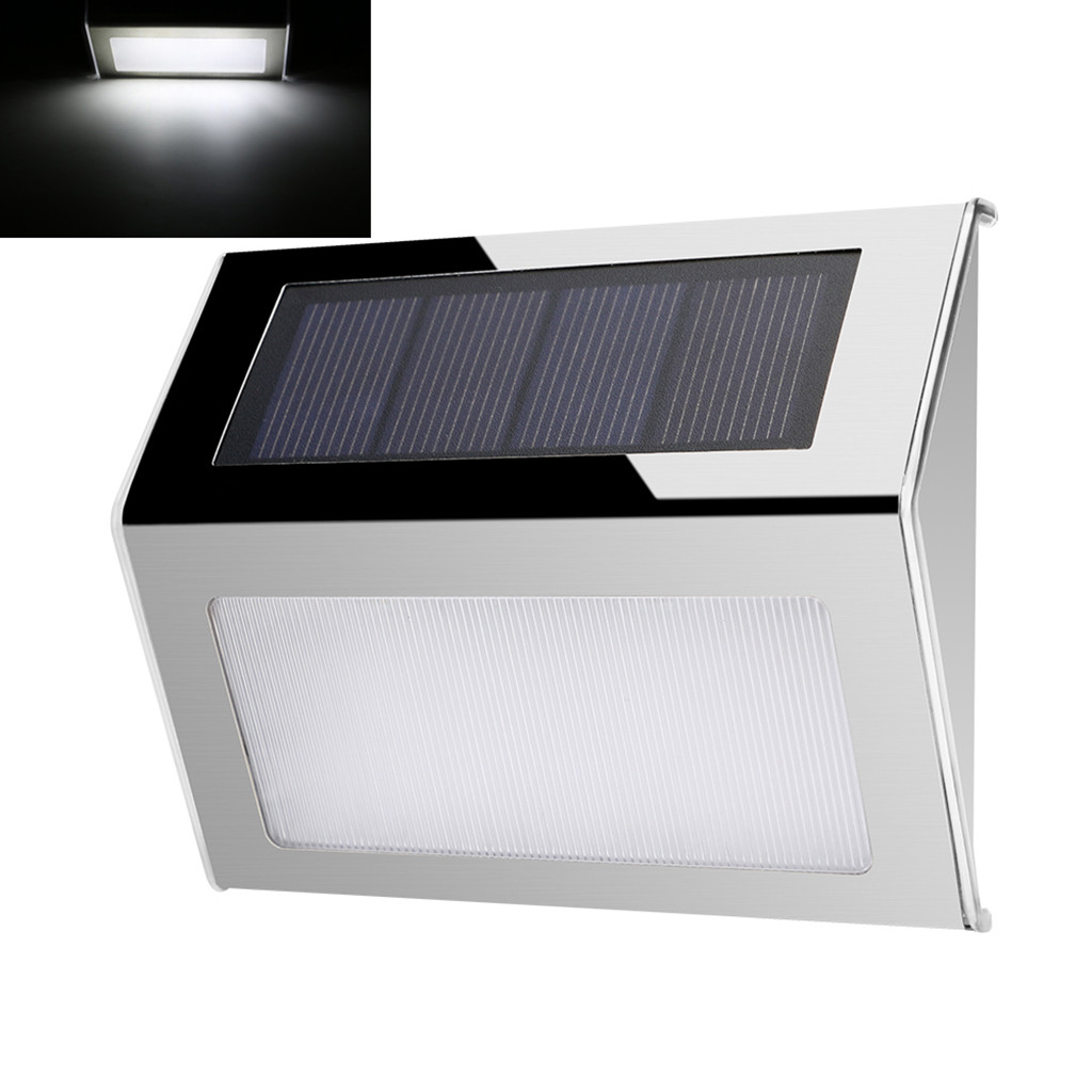 Wall Mount LED Light Solar Powered Outdoor Garden Path Landscape Fence Yard Lamp