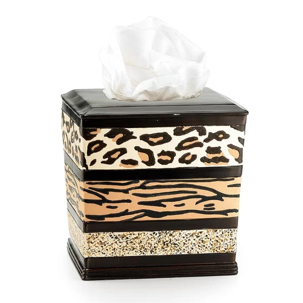 Popular Bath Gazelle Animal Print Bathroom Resin Tissue Box Cover