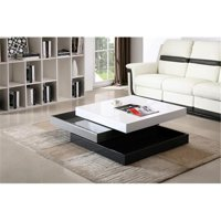 Product Image J M Furniture 17772 Modern Coffee Table Cw01 White High Gloss Grey