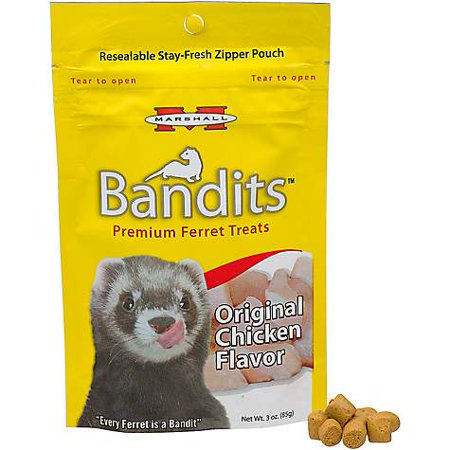 Marshall Pet Products Bandits Premium Chicken Ferret Treats, 3 oz (pack of 1)