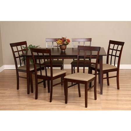 Warehouse of Tiffany  Justin Seven-Piece Latte Dining Furniture (Justin Warehouse)