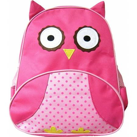 Animal Fun Packs 3D Design Pink Owl Backpack - Animal Print Backpacks