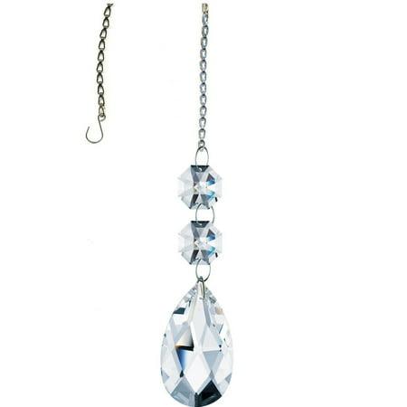 Crystal SunCatcher Clear Swarovski Crystal Almond Prisms Rainbow -