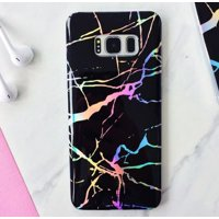 Samsung Galaxy S8 Plus Holographic Rainbow Glossy Marble Ultra Thin Rubber Case Cover