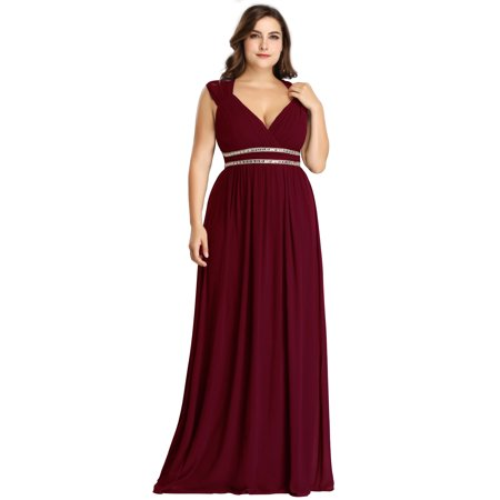 Halloween Parties Elegant Evening Party (Ever-Pretty Womens Empire Waist Elegant Long Fomral Evening Wedding Party Dresses for Women 86973 Burgundy)