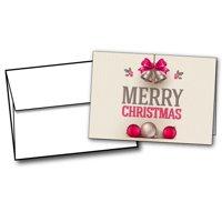 Holiday Bells & Bulbs Christmas Cards - 20 Greeting Card Sets