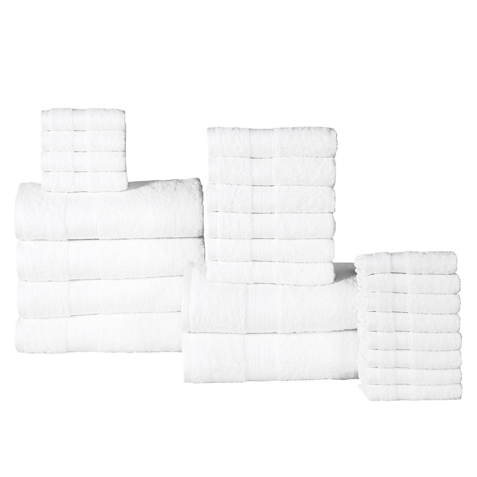Affinity Linens 24 Piece Plush Cotton Bath Towel Set by Overstock