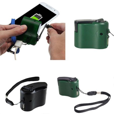Outdoor Emergency Charging Survival Tools USB Cell Phone Hand Crank Charger Battery