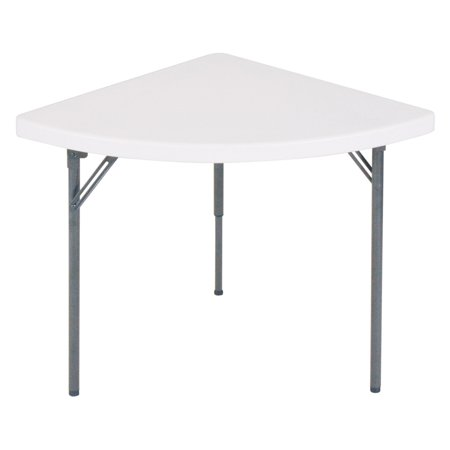 Correll 30 x 30 in. Quarter Round Wedge Folding Banquet Table-2 pk