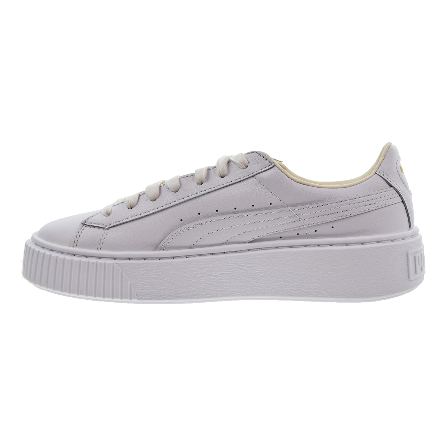7afe10eecd PUMA - Puma Basket Platform Core Women s Shoes Puma White Gold 364040-04 -  Walmart.com