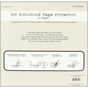 """Top-Loading 3-Hole Page Protectors 8""""X8"""" 10/Pkg-W/2 Post Extenders & Spacer"""