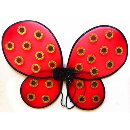 Womens Dress Up Costumes (Fantasy Adult Red Lady Bug Womens and Kids Dress up Costume)