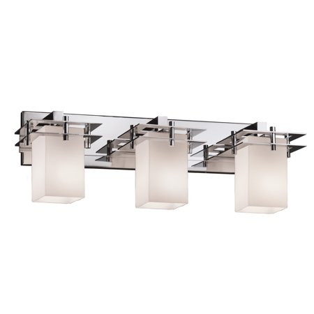 Justice Design Group  Fusion Metropolis 26 inch Bath Bar Square with Flat