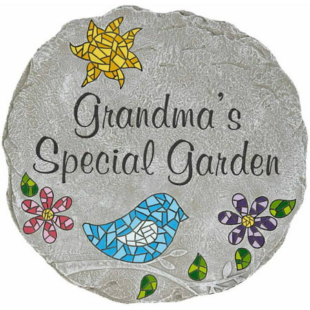 Personalized mosaic garden stepping stone available in 2 - Personalized garden stepping stones ...